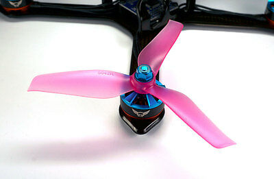 5x4.2x3 SCHUBKRAFT WINGS 3-Blatt Racing Propeller 5042 - SET 2x CW 2x CCW PINK