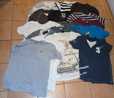 Large Bundle of Men's T-shirts and Tops Size M 16 items