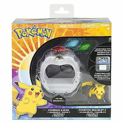 POKEMON T19202 Z-Ring Game TOMY CE Nintendo 3DS/2DS 4+ Moon Sun Soleil Lune