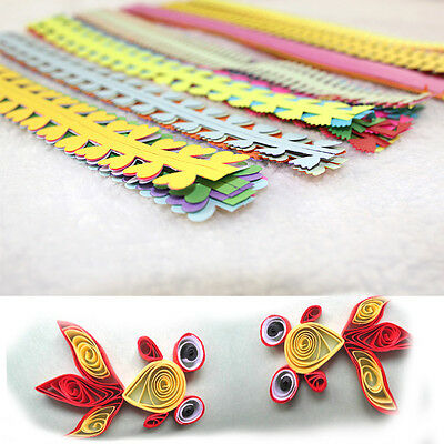 Flower Type 3D Quilling Paper Mixed Colors Hand-made Paper Quilling Paper Crafts