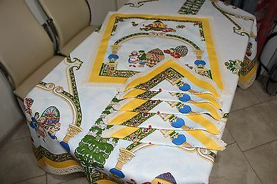 Orthodox Easter tablecloth and 6 napkins