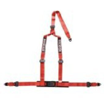 sparco 3 point harness rally race red seat belt restraint