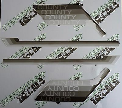 LAND ROVER DEFENDER 90 County 4 Gray Colors 1988-1990 DECAL Stripes Sticker SET