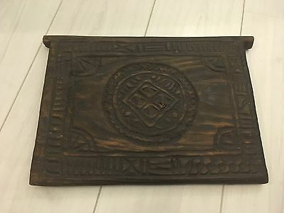 **curiosity, Quirky, Antique Wooden Window Shutter From Madagascar, Carved***