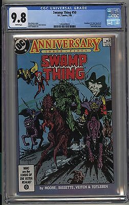 Swamp Thing 50 - CGC 9.8 White - 1st Dark League - Constantine