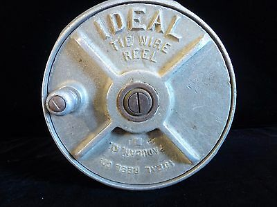 Vintage Ideal Tie Wire Reel Model 63 Steampunk Decor Solid Aluminum Paducah KY