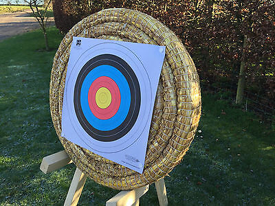 Egertec 65cm Straw Archery Target, Manufacturered In The UK, Free faces and pins