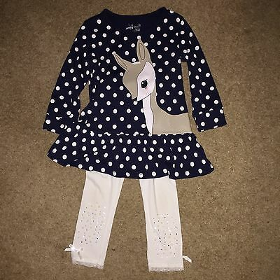 Gorgeous (Jumping Beans)Little Girls Dress And Leggings Worn Twice Size  4-5yrs