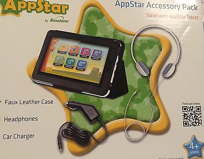 Appstar Accessory Pack - Faux Leather Case, Car Charger, Headphones BNIB!!