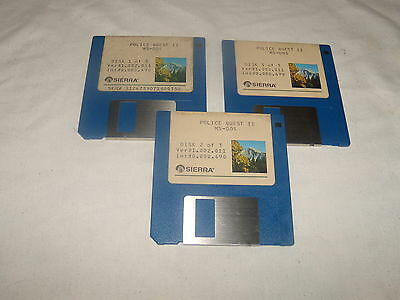 Police Quest II MS-DOS - 3.5 floppy disks