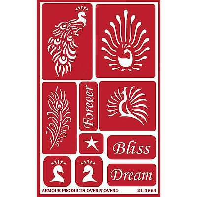 Over N Over Reusable Stencils 5 Inch X 8 Inch-Feathered Bliss 085593216649