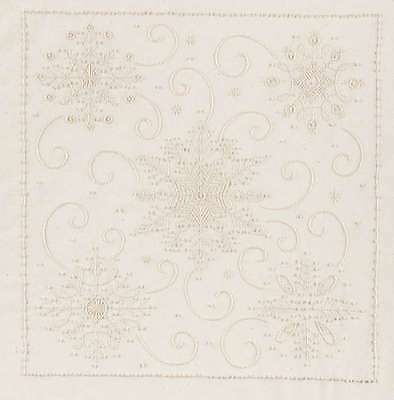 Snowflakes Candlewicking Embroidery Kit-11 Inch X 14 Inch 049489213624