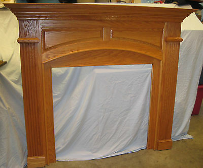 NEW Traditional Fireplace Fire Place Oak Surround Mantel LIving Family Room
