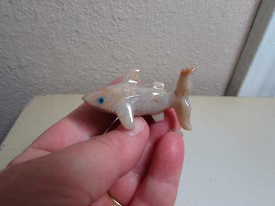 Shark, Hand carved Stone from the Andes. Rich Hued Miniature Stone Shark