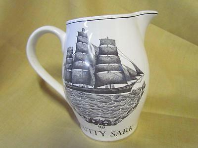 "Cutty Sark Clipper ""Old White Hat"" Ceramic Scotch Whiskey Pitcher"