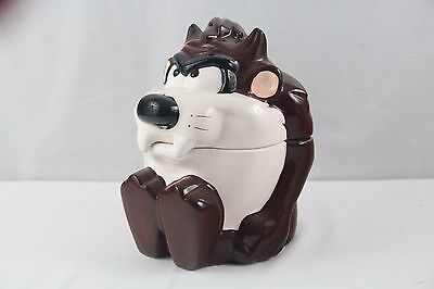 Warner 1995 Taz Tazmanian Devil Cookie Jar Looney Tunes TM WB Ceramic Sitting