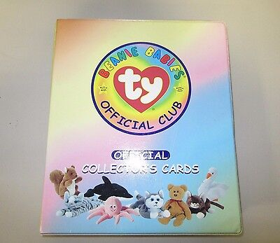TY Beanie Babies Official Club Collectors Card Binder W/ 300+ Cards