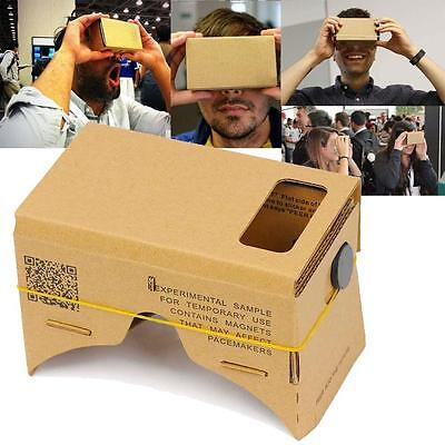 DIY Cardboard VR Virtual Reality 3D Glass For iPhone Google smartphone Print JS