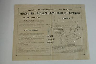Moto MOTOSACOCHE Systeme Dufaux instructions montage ancienne