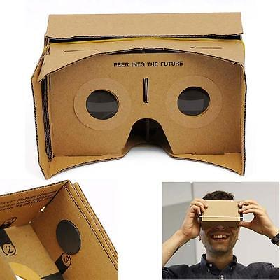 DIY 3D VR Virtual Reality Cardboard Glasses for Google Android iPhone Headset JS