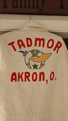 Vintage Tadmor Shriner's Temple Coverall Suit - Large  Embroidery - Akron, OH -