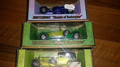 MATCHBOX MODELS OF YESTERYEAR MOY DIECAST  BOXED x 3