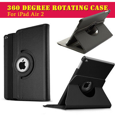 Leather 360 Degree Rotating Smart Stand Case Cover For APPLE  iPad Air 2 140