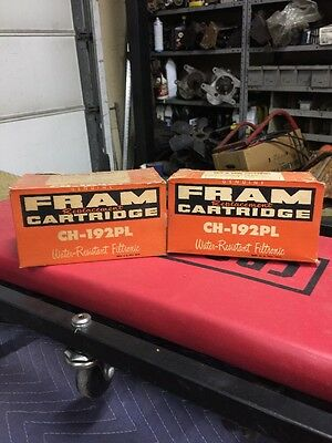 2 Vintage NOS FRAM CH-192 PL Oil Filter Cartridges MOPAR Imperial Desoto