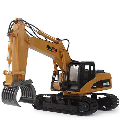 NEW 16 Channel 2.4G RC Alloy Timber Grab Excavator Rechargeable Remote Control