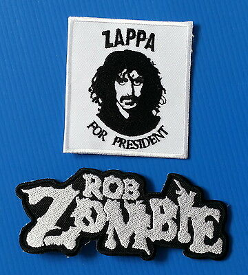 2 Lot ZAPPA  ZOMBIE 4.5 & 3.Inch Embrodered Iron Or Sewn On Patches W/ FREE SHIP