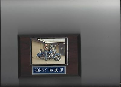 Sonny Barger Plaque Hells Angels Motorcycle Club On Bike