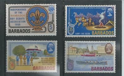 Barbados -1969 Independence of Boy Scouts Association - Un-mounted mint set