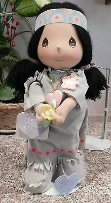 """Precious Moments 14"""" Wannie Native American Indian Plush Doll w/ Stand"""