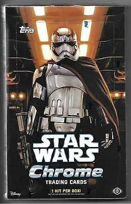 2016 Topps Star Wars Chrome Factory Unopened Sealed Box - Free Shipping