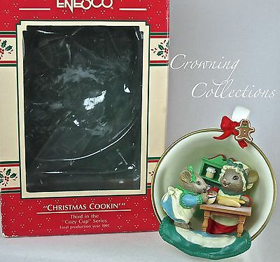 Enesco Christmas Cookin' Cozy Cup Ornament 3rd Mice Cooking Treasury of Teacup 3