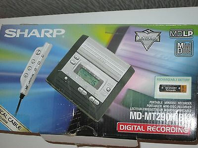 Sharp Md Mt290 Minidisc Player Recorder With Microphone