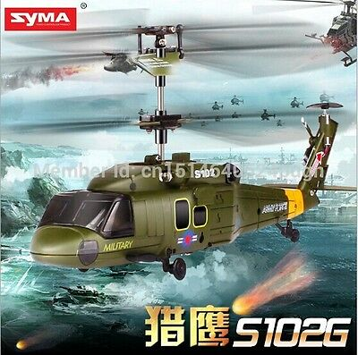 Syma S102G 3CH IR Remote Control Helicopter With Gyro & LED Light RC Airplanes