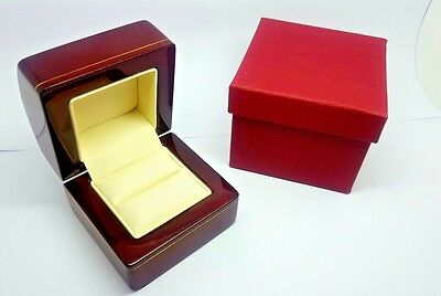 Best Selling wooden Engagement ring box classic add Your name to the YES LIST