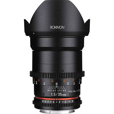 NEW Rokinon 35mm T1.5 Cine DS Lens for Canon EF Mount