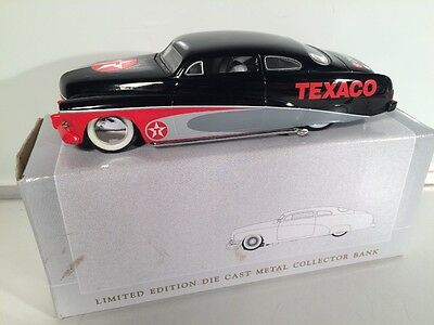 1/25 Spec Cast Bank 1949 Chopped Mercury Coupe Texaco Black, Red & Grey #1065