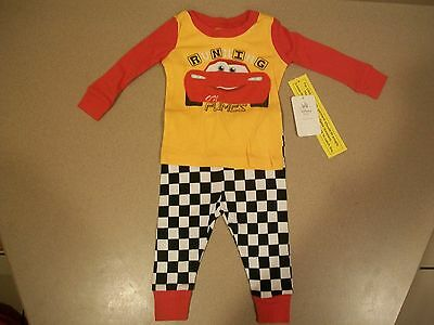 Disney Store Lightning Mcqueen Pj Pal Pajamas Set Nwt For Baby Size 0-3 Months