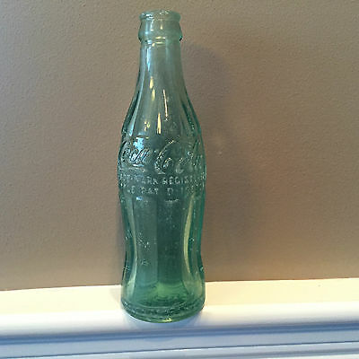 Pat. D-105529 Coca Cola Coke Bottle, COLUMBUS NEBR. NEBRASKA Rated S by Porter