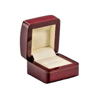 Ring box Hand crafted in Cherry Wood UK Solid Proposal Engagement for YES Answer