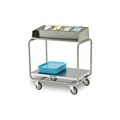 Lakeside Stainless Steel Angle Frame Tray & Silver Cart - 214