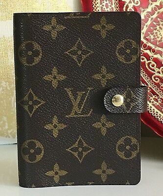 Auth LOUIS VUITTON Small Ring Agenda Cover PM Monogram Canvas