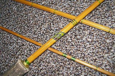 Allcocks 3 Piece Vintage Split Cane Fishing Rod