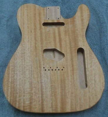 Telecaster Style Body   ~ 1 PIECE MAHOGANY ~ ~STANDARD ROUTING~