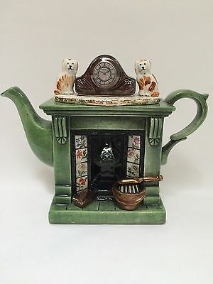 Cardew Design Mini-Teapot Fireplace Mantel Staffordshire Dogs Made in England