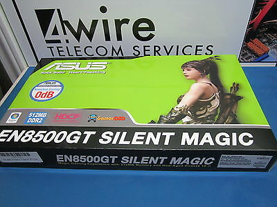 90-C1CJ7N-JUAY00Z ASUS EN8500GT SILENT MAGIC/HTP/512M/A Dual Video Card PCLe