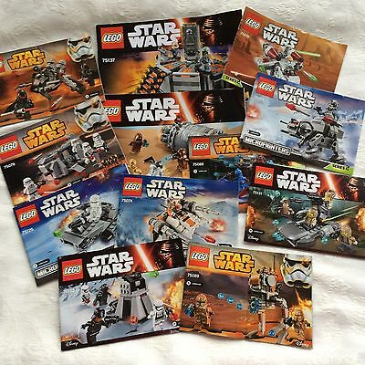 Lego Star Wars Instruction Manuals Booklet Lot Microfighters +